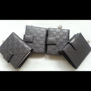 0df9b859115b1a NWT Authentic Gucci Leather gg twins French Wallet